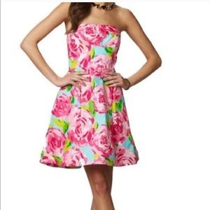 Hotty Pink First Impressions Blossom Dress